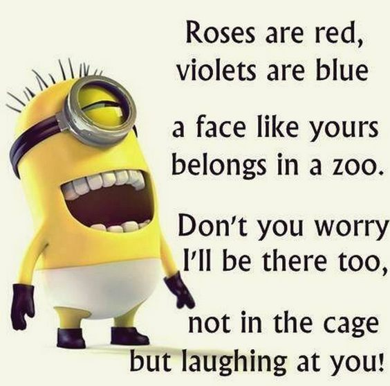 Very Funny and witty Quotes for your friends with Minion
