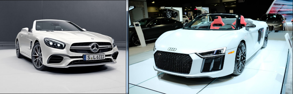 Fastest supercars comparision-Mercedes-Benz AMG SL vs Audi R8