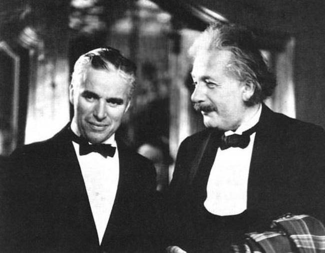 Albert Einstein and Charlie Chaplin
