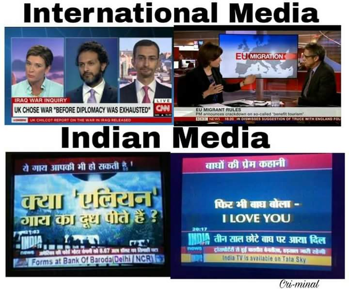 Indian media vs foreign media
