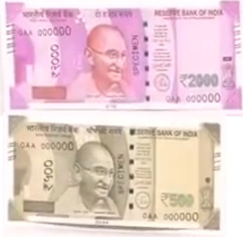 New 500 and 2000 Rupees notes released