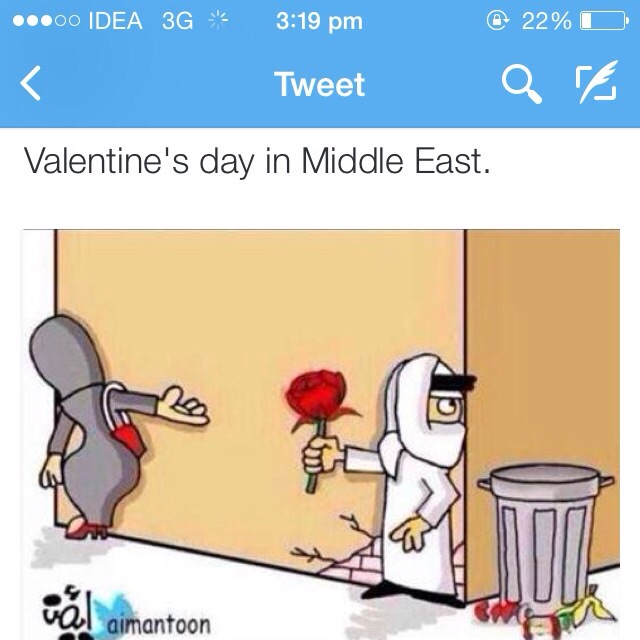 Valentine day in middle east