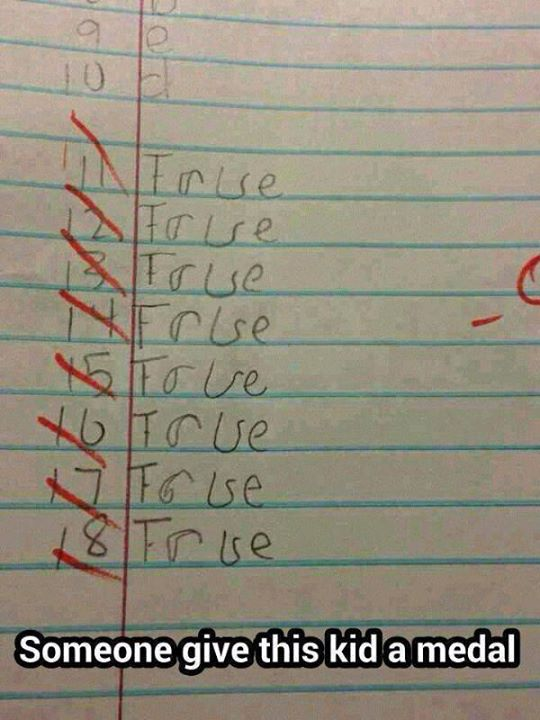 This kid deserves a medal